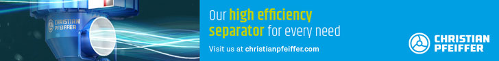 Our high efficiency separator for every need - visit us at christianpfeiffer.com - Christian Pfeiffer