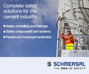 Complete safety solutions for the cement industry - Safety consulting and trainings - Safety components and systems - People and investment protection - Schmersal