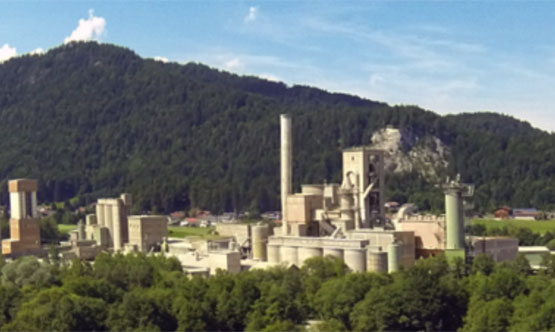 Figure 1: The  Schretter & Cie cement plant  in Vils, Austria.