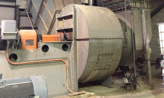 Figure 1: Industrial facilities like cement plants  are full of large and often noisy fans.