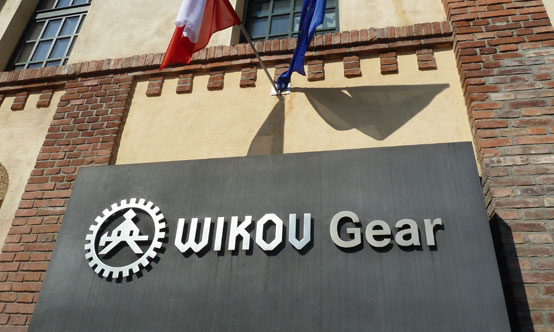 Outside the Wikov Gear plant in Pilsen, Czechia. This part of Wikov Group was originally part of Škoda. The older logo was kept to preserve the history and show the evolution of the Wikov brand.