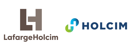 Figure 1: From a merger of equals to building progress for people and the planet, the LafargeHolcim and Holcim logos.