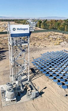 Heliogen concentrates solar energy to above 1000C
